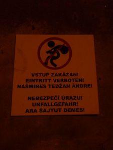 Zutritt verboten - Schild in Předlice