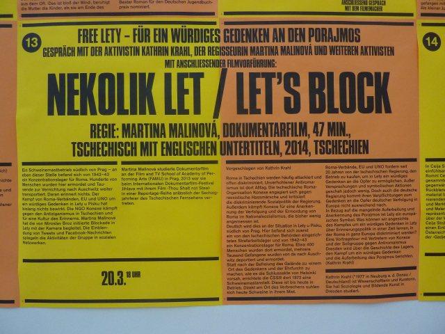 "Heidelberg Kunstverein Filmplakat ""let´s block"""